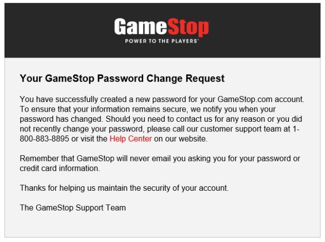 GAMESTOP Account Password Recovery Not Working