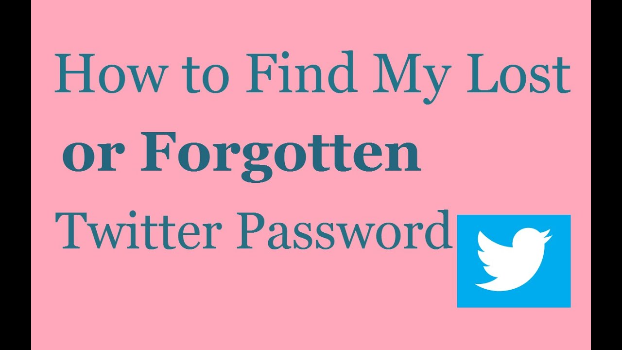 TWITTER Account Password Recovery Not Working
